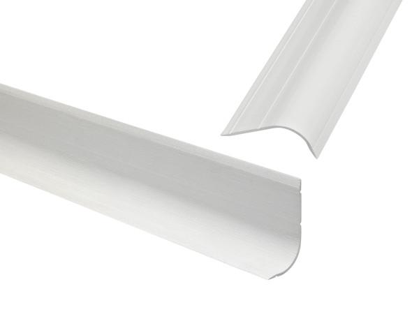 PVC - Hohlkehlsockelleiste (60/30)