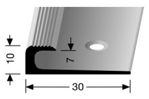 Einschubprofil (805) versenkt gebohrt