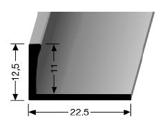 Abschlussprofil (308U) ungestanzt