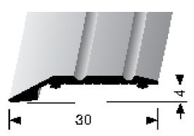 Abschluss-/ Anpassungsprofil (240SK) selbstklebend