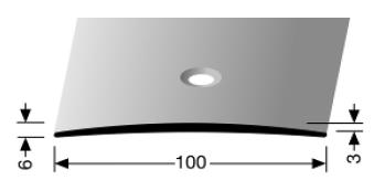 Übergangsprofil (466) versenkt gebohrt