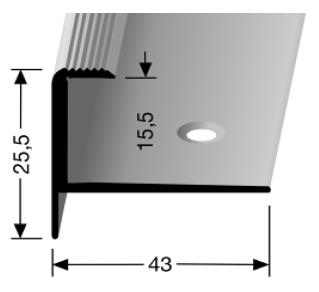 Treppenkantenprofil (813) versenkt gebohrt