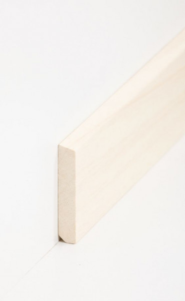 Massivholz-Sockelleiste Abachi 10 x 58 mm, abgeschrägt