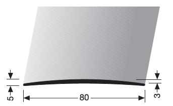 Übergangsprofil (465U) ungebohrt
