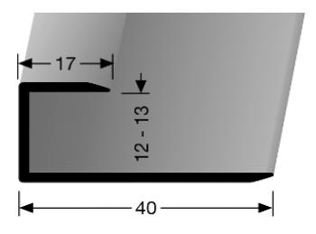 Einschubprofil (202U) ungebohrt
