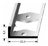 Doppel-K Profil (303G) gestanzt