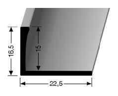 Abschlussprofil (306U) ungestanzt