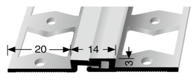 Bewegungsfugenprofil (317G) gestanzt