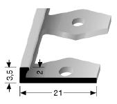 Einfach biegbares Abschlussprofil (299)