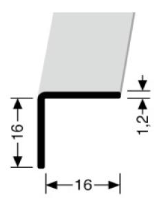 Winkelprofil (277U) ungebohrt