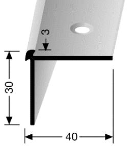 Treppenkantenprofil (871) versenkt gebohrt
