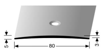 Übergangsprofil (465) versenkt gebohrt