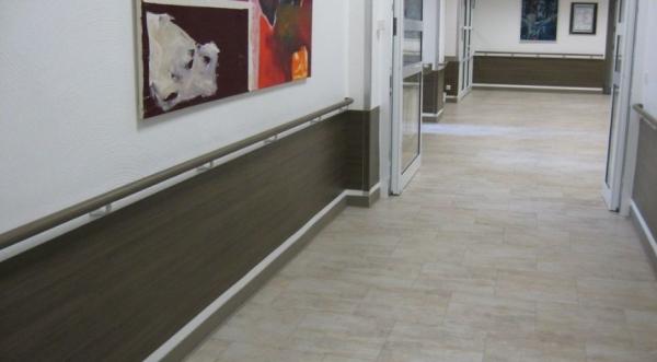 SPM/Gerflor - Wandschutzplatten Holzoptik
