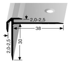 Treppenkantenprofil (832) versenkt gebohrt
