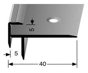 Treppenkantenprofil (830) versenkt gebohrt