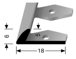 Einfach biegbares Abschlussprofil (359EB)