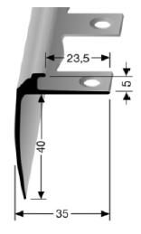 Biegbares Treppenkantenprofil (852EB)