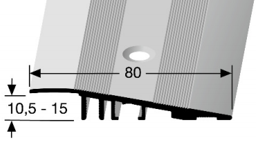 Rampenprofil (260) versenkt gebohrt