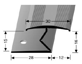 Doppelklemmprofil (383) versenkt gebohrt