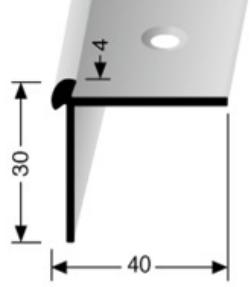 Treppenkantenprofil (872) versenkt gebohrt