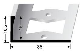 Doppel-K Profil (336G) gestanzt