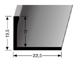 Abschlussprofil (312U) ungestanzt