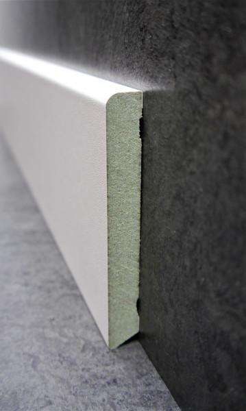 Feuchtigkeitsbeständige MDF-Sockel 12 x 70 mm