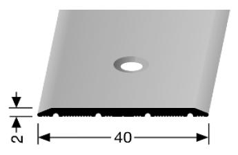 Übergangsprofil (441) versenkt gebohrt