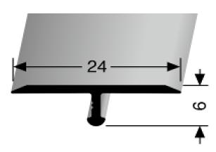 Einfach biegbares T-Profil (295)