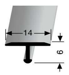 Einfach biegbares T-Profil (290)