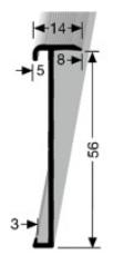 Treppenkantenprofil (846) versenkt gebohrt