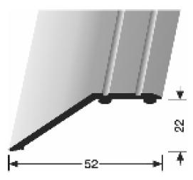 Abschluss-/ Anpassungsprofil (245SK) selbstklebend