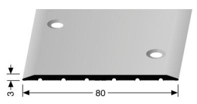 Übergangsprofil (444) versenkt gebohrt