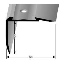 Treppenkantenprofil (708N) für PVC Gleitschutzeinlagen, versenkt gebohrt