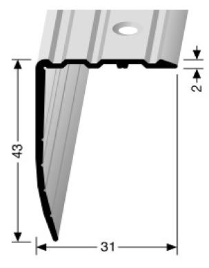 Winkelprofil (540) versenkt gebohrt
