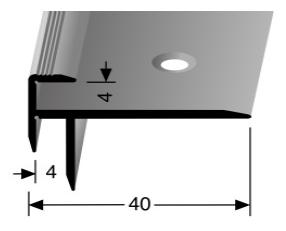 Treppenkantenprofil (828) versenkt gebohrt