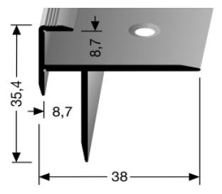 Treppenkantenprofil (209) versenkt gebohrt