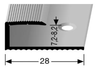 Einschubprofil (210) versenkt gebohrt