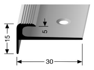 Treppenkantenprofil (807) versenkt gebohrt