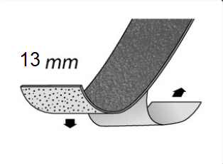 Gleitschutzeinlage selbstklebend, ohne Körnung, 13 mm