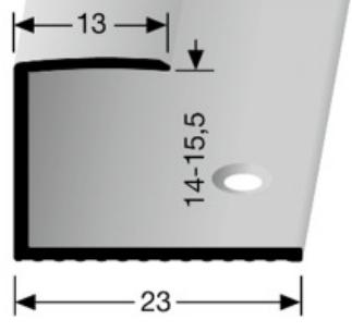 Einschubprofil (015) versenkt gebohrt