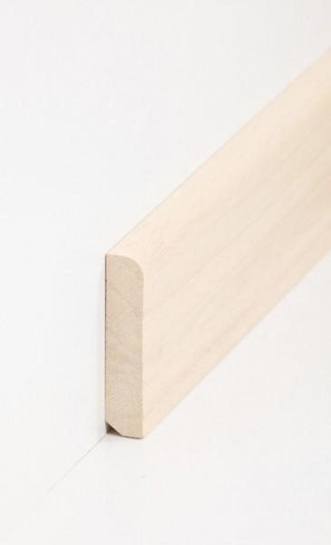 Massivholz-Sockelleiste Abachi 13 x 58 mm, abgerundet