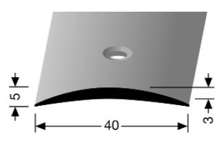 Übergangsprofil (462) versenkt gebohrt