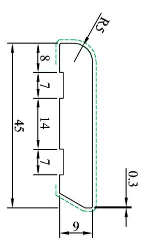 MDF-Kern-Sockelleisten, verschiedene Größen