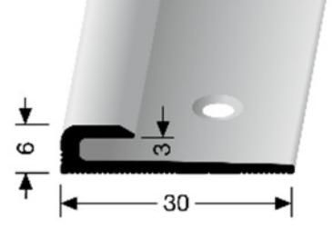 Einschubprofil (801) versenkt gebohrt