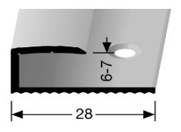 Einschubprofil (192) versenkt gebohrt