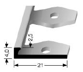 Einfach biegbares Abschlussprofil (300)