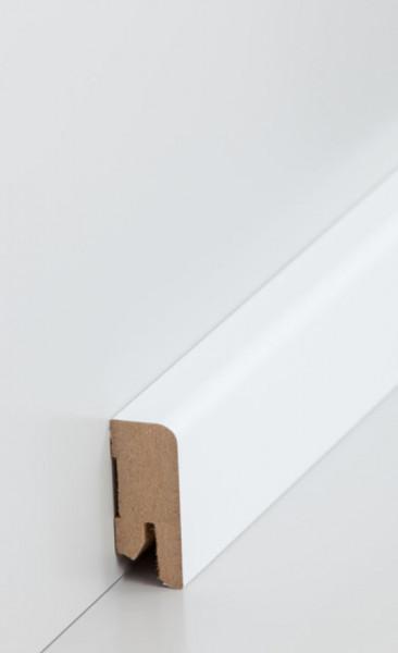 MDF-Kern-Sockelleisten 16 mm Stark, Metallicfolie möglich