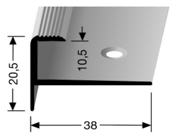 Treppenkantenprofil (811) versenkt gebohrt