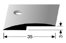 Abschluss-/ Anpassungsprofil (250S) versenkt gebohrt
